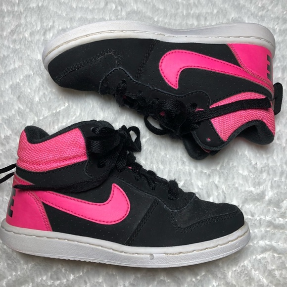 Nike Black & Hot Pink High Tops